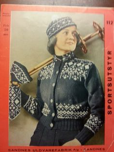 Sandnes 112 Norwegian Knitting Designs, Embroidery Patterns, Knitting Patterns, Chart Design, Ragnar, Tapestry Weaving, Knit Jacket, Vintage Knitting, Vintage Photography
