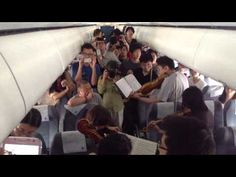 Transformed in minutes- from gloomy passengers to enthusiastic audience.