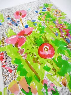 Floral Doodle 3 - Flower Illustration - Archival A4 Print from original illustration on Etsy, $27.00