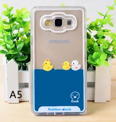 Cute Yellow Duck Transparent Case for Samsung Galaxy A8 A7 A5 A3 J7 j1