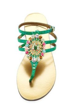 Want California casual chic style in your life? HauteLook has you covered. Start shopping-and saving up to off! Jeweled Sandals, Embellished Sandals, Slingbacks, Casual Chic Style, Beautiful Shoes, Shoe Game, Shoe Collection, Flip Flop Sandals, Pink And Green