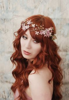 Scarborough fair velvet millinery floral crown by gardensofwhimsy