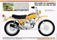 HONDA SL70 Motosport Minicycle I got one of these in 8th grade!