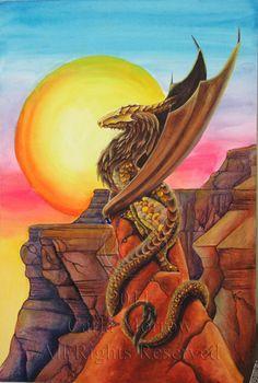 Sun Dragon... by acrylicdragon.deviantart.com on @deviantART