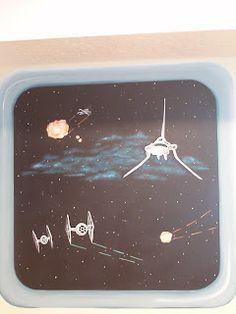 Spaceship windows on wall