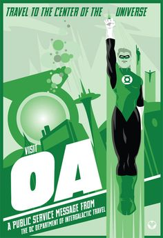Green Lantern - Visit OA poster by Mike Mahle