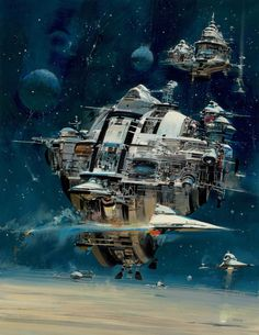 Spaceship, space opera and sci-fi inspiration  John Berkey