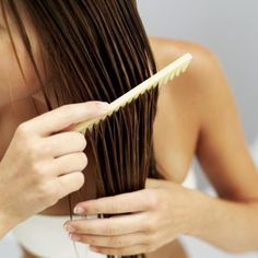 A few drops of lemon juice in half a cup of olive oil or just lemon juice brushed through wet hair for a hair softener and lightener...