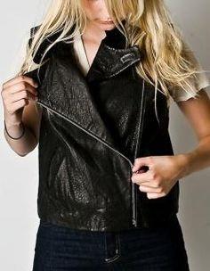 Ashley Tisdale wearing Alexander Wang Leather Vest