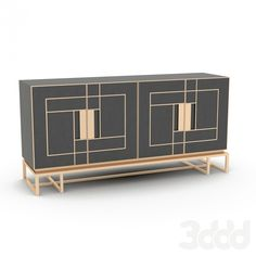 LUXURY BUFFET| Modern buffet with brass details for a luxury decor | For more buffets and cabinet ideas download the ebook:  https://www.buffetsandcabinets.com/100-modern-buffets-cabinets/?utm_source=BuffetsAndCabinets2016&utm_medium=BuffetsAndCabinetsEbook&utm_content=Header&utm_campaign=Ebook  #moderncabinets #luxurycabinets