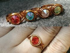 Tutorial easy eye rings beginners - Wire copper jewelery