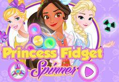 Princess Fidget Spinners: As princesas estão agora se preparando para entrar na competição de spinner e eles precisam de sua preciosa ajuda para se preparar! Vamos escolha roupas e acessórios mais bonitos para as princesas.