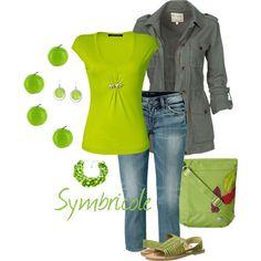 """""""Vert pomme"""" by symbricole on Polyvore"""