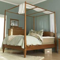 Pencil Post Bed Woodworking Plan, Furniture Beds & Bedroom Sets