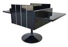 Lane Mid-century Modern Lacquered Folding Cube Cabinet Bar | Modernism