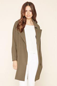 Asymmetrical Zipped-Front Jacket