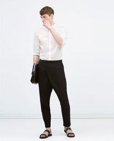 ZARA - MAN - Seersucker trousers