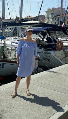 Summer, Selling, Marine Look, Ralph Lauren Shoulder Dress, One Shoulder, Ralph Lauren, Summer, Dresses, Fashion, Vestidos, Moda, Fasion