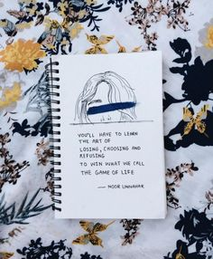 'you'll have to learn the art of losing, choosing and refusing to win what we call the game of life' // poetry by noor unnahar Kunstjournal Inspiration, Art Journal Inspiration, My Journal, Journal Pages, Journal Quotes, Poetry Journal, Citation Photo Insta, Diy Crafts For Teens, Writing Words