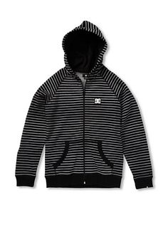 50% OFF DC Boy's Cage Stripe-BY Hoodie (Black)