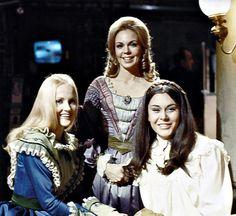 Melanie Collins (Nancy Barrett), Catherine Harridge (Lara Parker), and Daphne Harridge (Kate Jackson) ~ 1840 Parallel Time