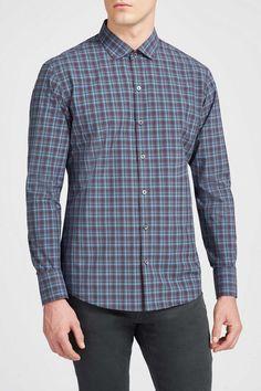 Zachary Prell Perry Modern Layered Plaid Shirt