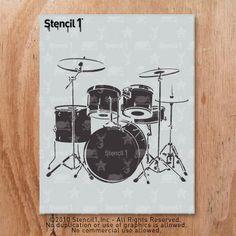 Stencil1 Drum Set Stencil S1_01_17 by Stencil1 on Etsy