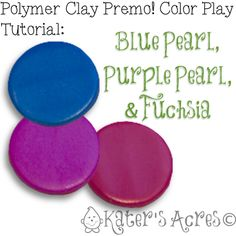 Learn How to Play with Polymer Clay Colors with this Polymer Clay Color Play Tutorial by KatersAcres