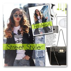 """Street Style"" by stylemoi-offical ❤ liked on Polyvore featuring mode, adidas Originals et stylemoi"