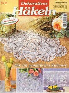 "Photo from album ""Dekoratives Hakeln on Yandex. Crochet Chart, Filet Crochet, Knit Crochet, Crochet Patterns, Lace Doilies, Crochet Doilies, Crochet Flowers, Knitting Magazine, Crochet Magazine"