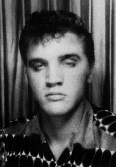 This is Elvis  ID photo for his badge with the electric company ... 932d1dd3f4