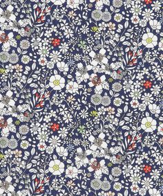 Junes Meadow D Tana Lawn, Liberty Art Fabrics. Shop more from the Liberty Art… Design Textile, Design Floral, Textile Prints, Textiles, Textile Patterns, Floral Prints, Pretty Patterns, Beautiful Patterns, Flower Patterns