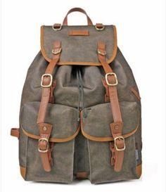 19ac695ba5 Casual Outdoor Water-Resistant Backpack. More information. More  information. Vintage Canvas Travel Backpack Leisure Backpack Schoolbag  Laptop Shoulder Bag ...