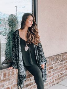 Long sleeve woven animal print cover-up Rayon One size fits all Runs over-sized Long Sleeve Kimono, Kimono Top, One Size Fits All, Cheetah, Cover Up, Bell Sleeve Top, Outfit Ideas, Closet, Outfits