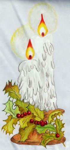 pintura en tela navidad                                                       …