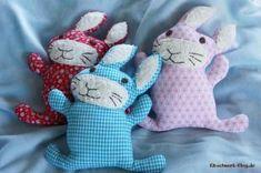 Hasen, Stofftier, Babyspielzeug, Stoff, nähen, rabbit, stuffed rabbit, fabric, sewing, baby toy