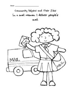 coloring pages lesson plan our community   15 Best occupation Coloring Sheets images   Coloring pages ...