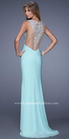 Applique Back Prom Dresses By La Femme #PromDress