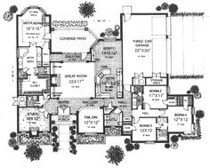 french country style house plans 3162 square foot home 1 story 4 bedroom