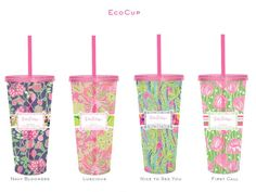 Lilly Pulitzer Eco-Cups