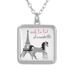 Shop Personalize The Pretty Ponies Paris Horse Necklace created by ThePrettyPony. Personalize it with photos & text or purchase as is! Horse Necklace, Dog Tag Necklace, Unique Gifts For Girls, Special Girl, Black Felt, Ponies, Sterling Silver Necklaces, Pretty, Accessories