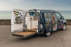 Nissan builds a versatile mobile office inside its e-NV200 electric van