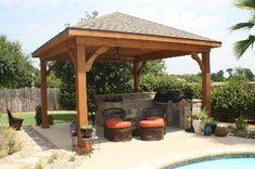 pool cabanas design ideas | Poolside cabana Archadeck of Ft. Worth