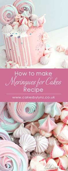 How to make Meringues to decorate your cakes! - cakes - How to make Meringue Kisses & Rosettes to add decorate your cakes – video tutorial / recipe by Ca - Baked Meringue, Meringue Cookie Recipe, Meringue Frosting, Meringue Desserts, Chocolate Meringue, Meringue Kisses, Meringue Pie, French Meringue, Meringue Powder