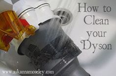 Cleaning your Dyson (How to Clean a Dyson Vacuum) - Ask Anna. I am  NOT putting my cyclone parts in water, but the rest is pretty good info - didn't know about the trap parts!