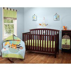 Baby Boom Balloon Friends 10pc Nursery in a Bag Crib Bedding Set
