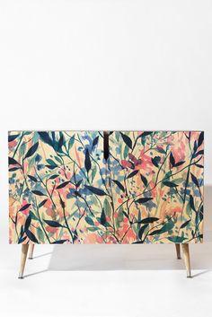 Jacqueline Maldonado Wandering Wildflowers Blue Credenza | DENY Designs Home…