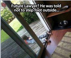 Lawyer. Smart kid. Lol
