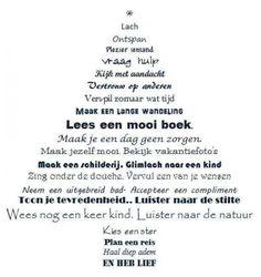 Kerstboom met zinnen