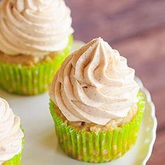 Apple Cupcakes with Cinnamon-Cream Cheese Frosting via @browneyedbaker
